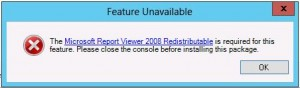 WSUS Report Error Message