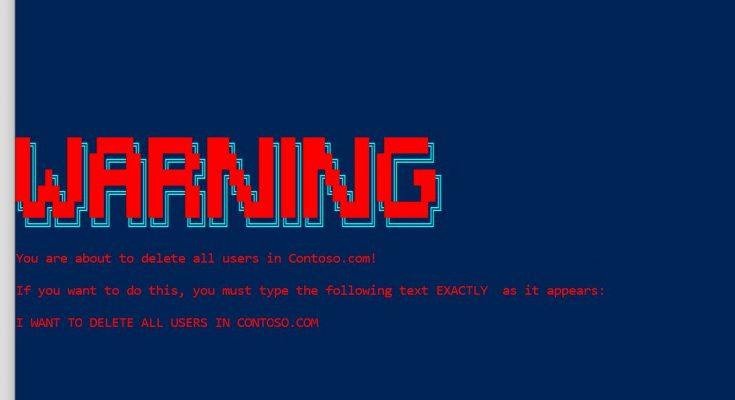 PowerShell Ascii Art Warning