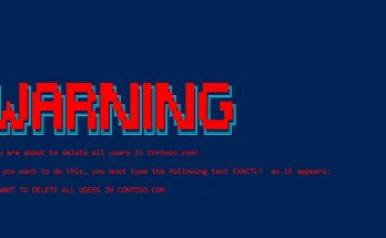 PowerShell Ascii Art Warning